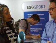 la ministre des sports se rend au salon sport job day de esg sport